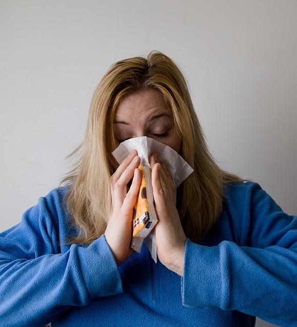 zieke vrouw
