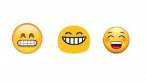 Emoji grijns op gezicht