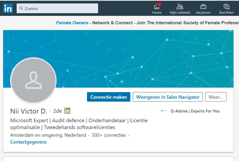 LinkedIn verzoek