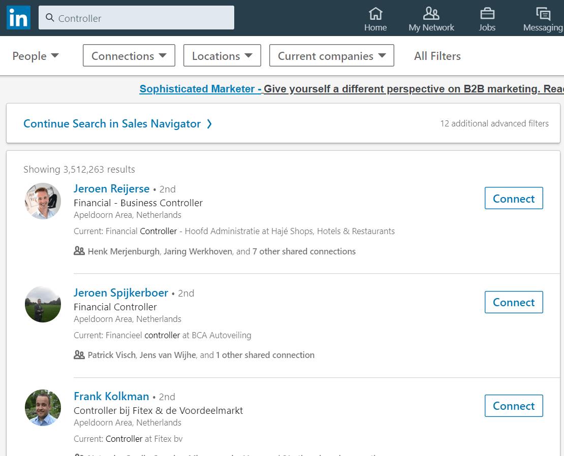 Verzoek LinkedIn 2
