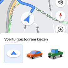 Blauwe pijl in maps aanpassen